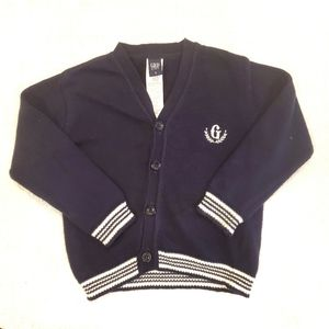 4for$20!! Blue/white knit cardigan size 3